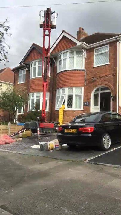 A log burner installation in Birmingham