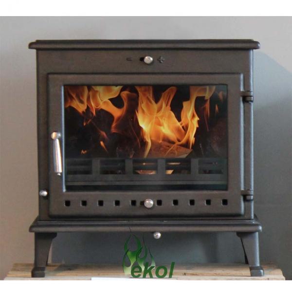 Ekol Crystal 12 woodburning stove in situ
