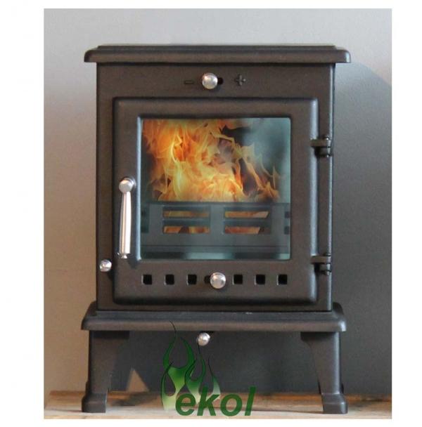 Ekol Crystal 5 woodburning stove multi fuel insitu