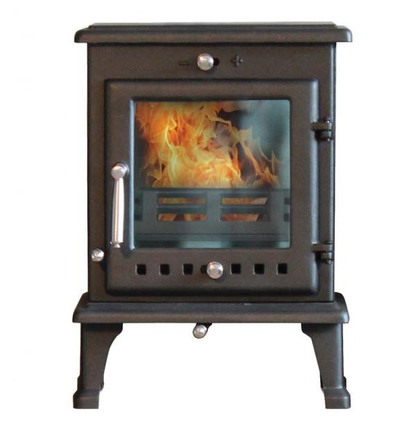 Ekol Crystal 5 woodburning stove multi fuel white background