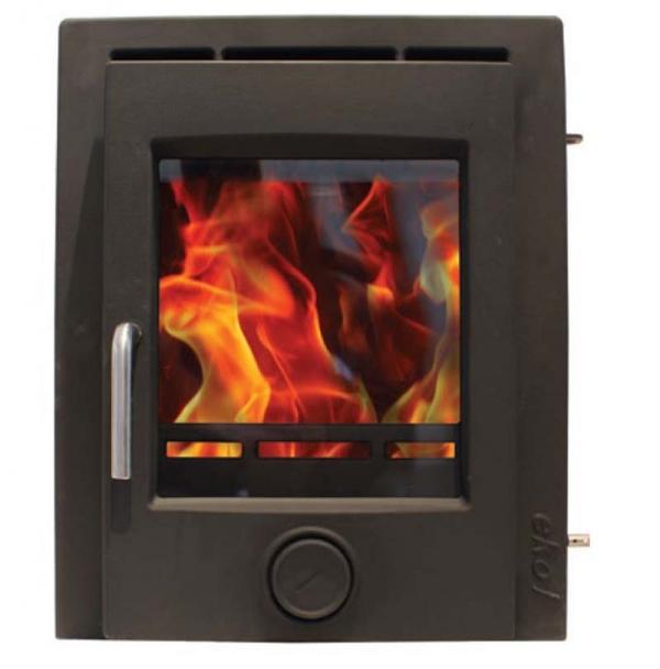 Ekol inset 5 matt black woodburning stove 5kw