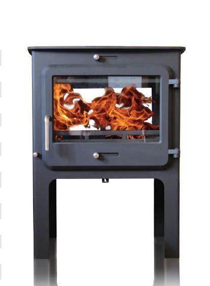 Ekol Clarity double sided woodburning stove high leg options
