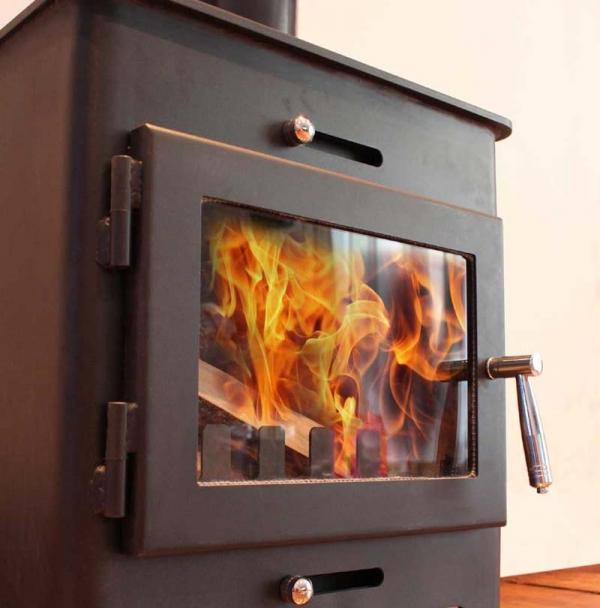 Saltfire ST1 wood burning stove close-up