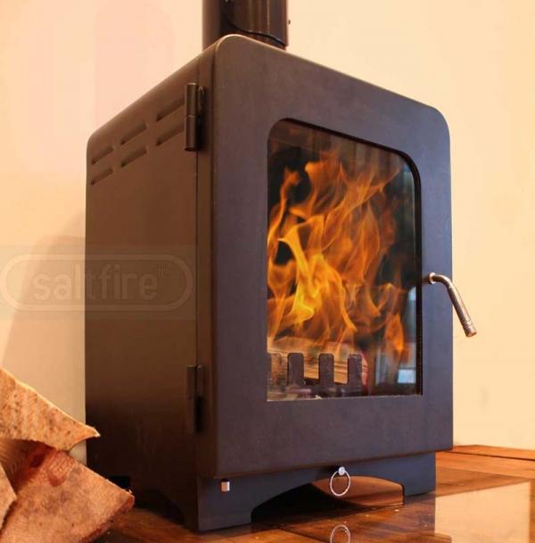 Saltfire ST2 woodburning stove angle