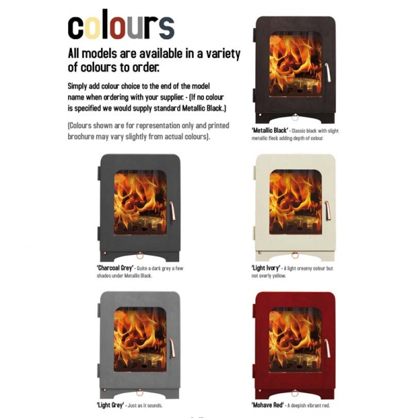 Saltfire ST2 woodburning stove colours
