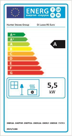 Di Lusso R5 Euro Wood Burning Stove Energy Rating