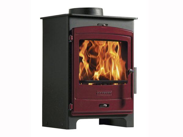 portway 1 multifuel stove for sale with red door
