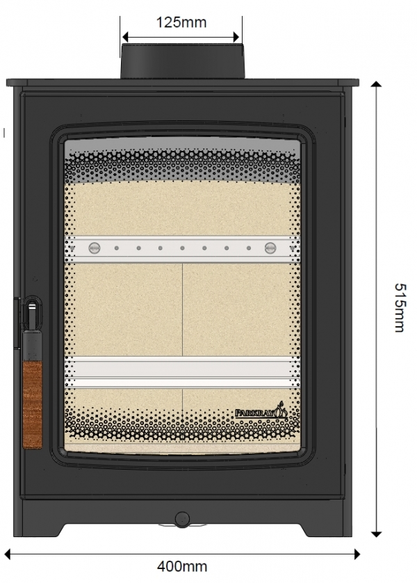 parkray aspect 4 woodburning stove front dimensions