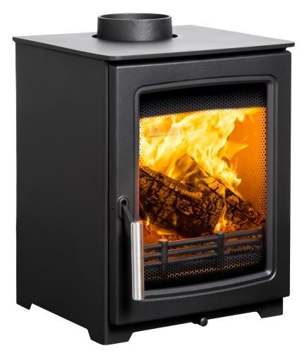 parkray aspect 4 woodburning stove side view