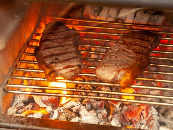Esse Warmheart cook stove steaks