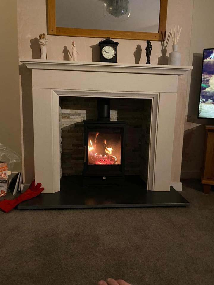 logburner stove installation uk